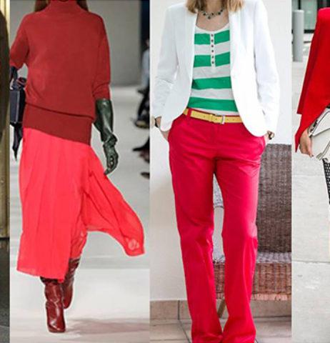 Červená-trend podzimu a jak ji nosit