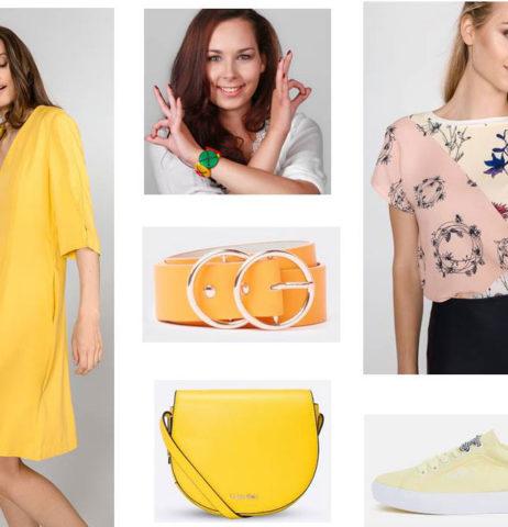 Jak přidat žlutou barvu do oblečení v létě 2018