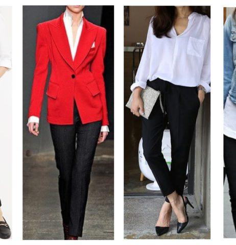 Černé kalhoty, bílá košile must have v mém šatníku